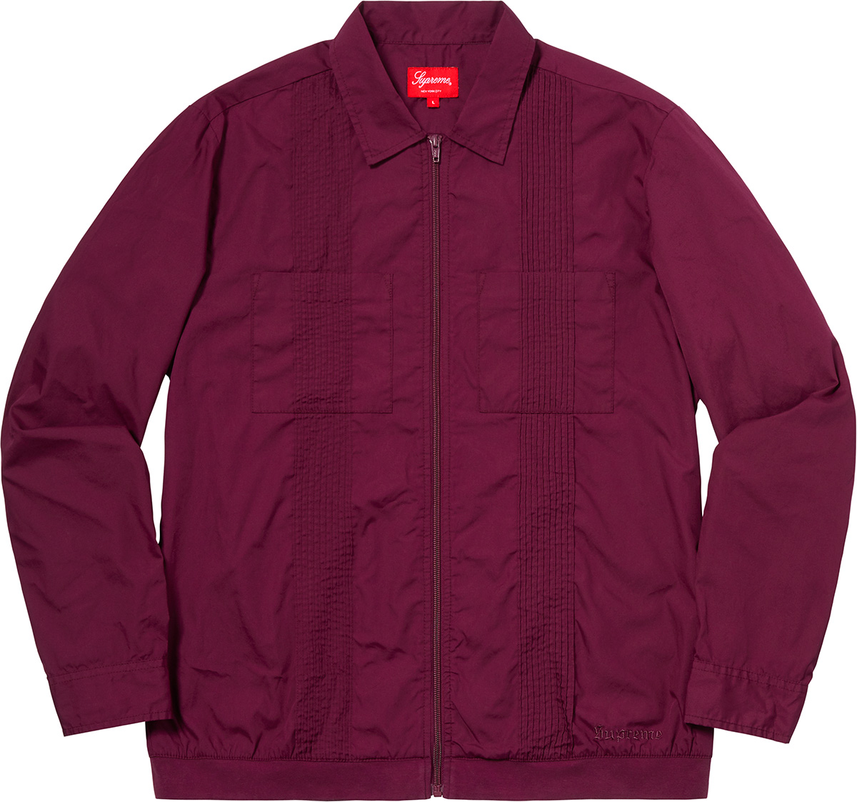 supreme-18aw-fall-winter-pin-tuck-zip-up-shirt