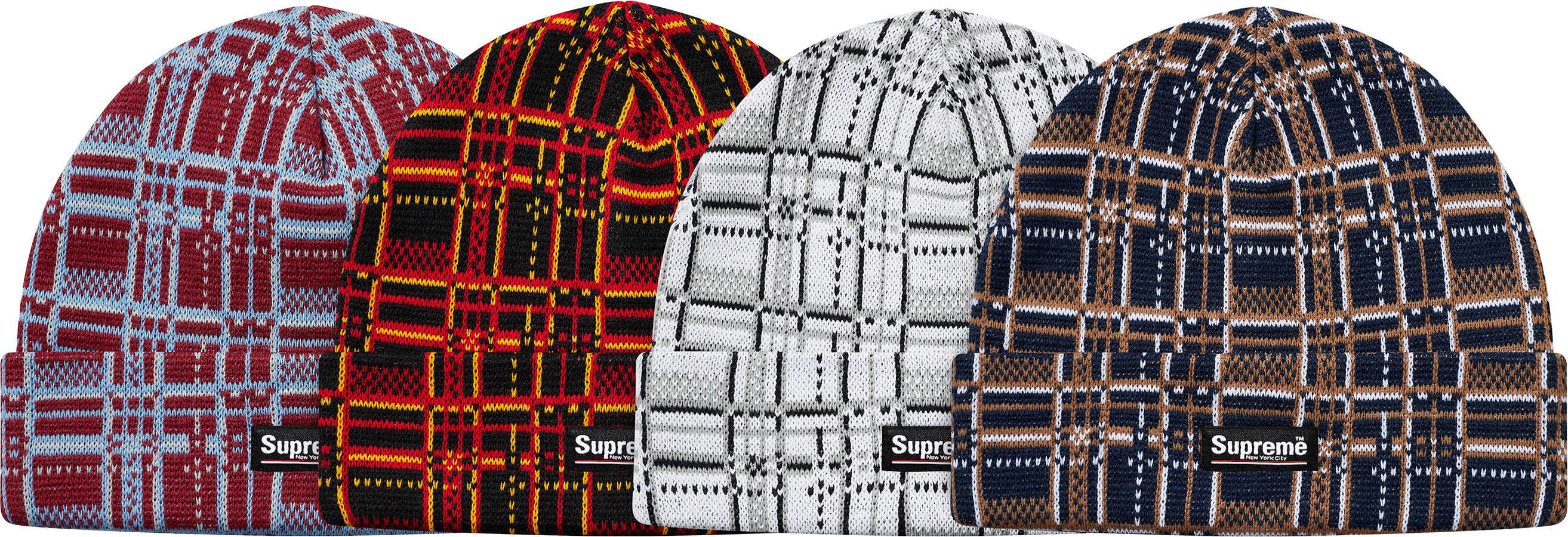 supreme-18aw-fall-winter-plaid-beanie