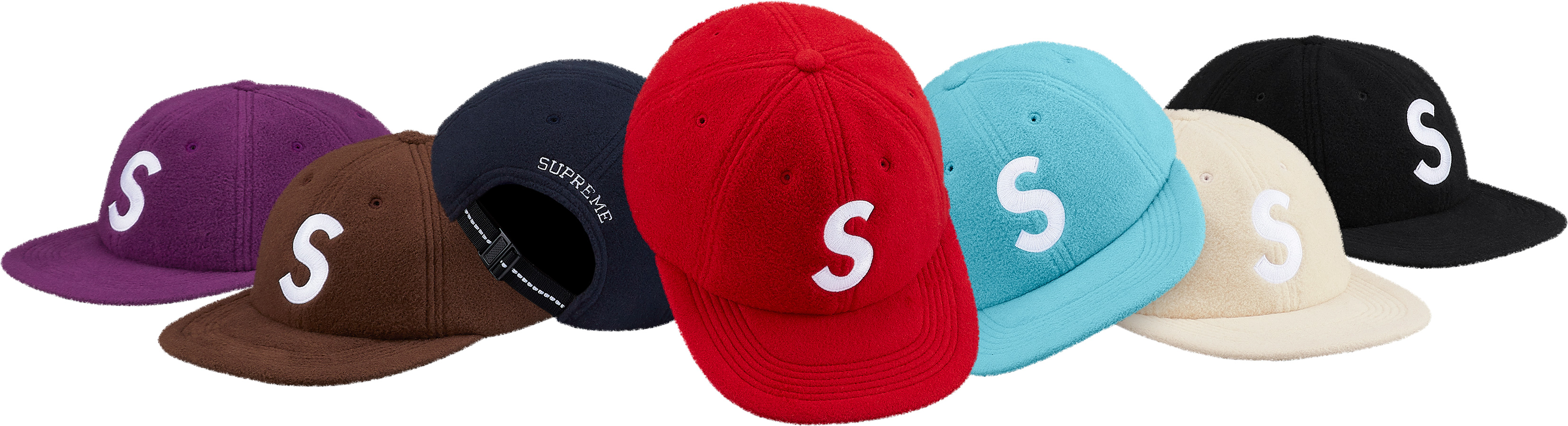 supreme-18aw-fall-winter-polartec-s-logo-6-panel