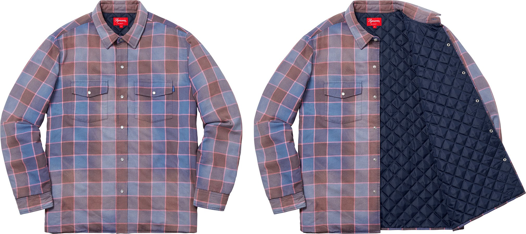 supreme-18aw-fall-winter-quilted-faded-plaid-shirt