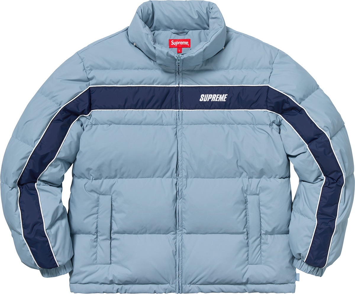 supreme-18aw-fall-winter-stripe-panel-down-jacket