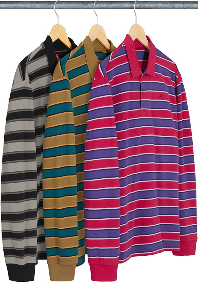 supreme-18aw-fall-winter-striped-l-s-polo