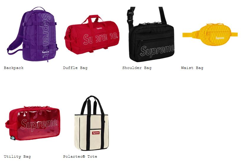 supreme-18aw-spring-summer-collection-bags