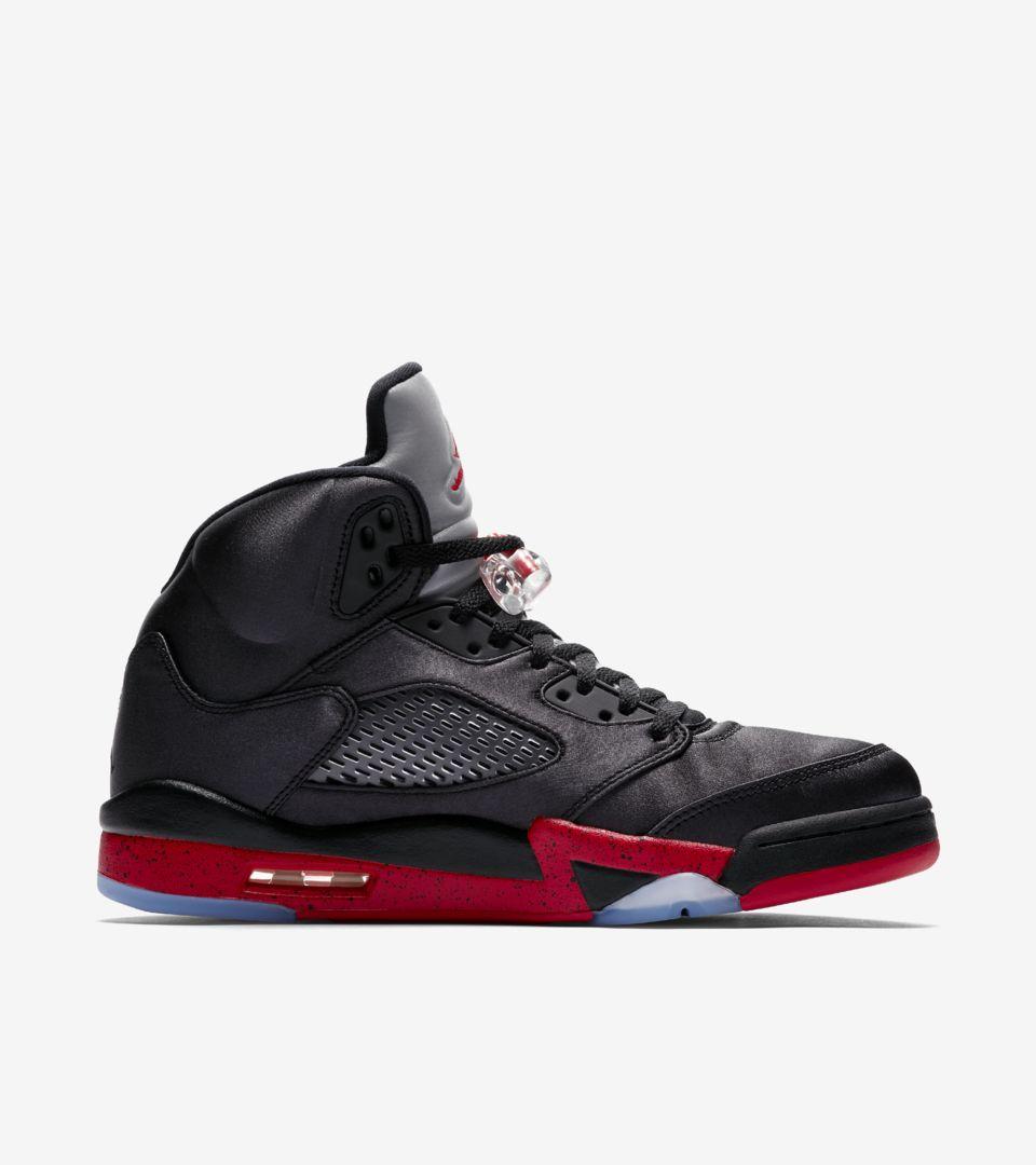 nike-air-jordan-5-satin-black-red-136027-006-release-20181103