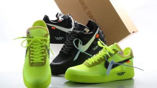 OFF-WHITE × NIKE AIR FORCE 1 LOW BLACK & VOLTが12/19に国内発売予定
