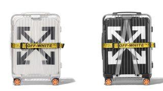 OFF-WHITE × RIMOWA コラボスーツケース 2型が10/25に国内発売予定