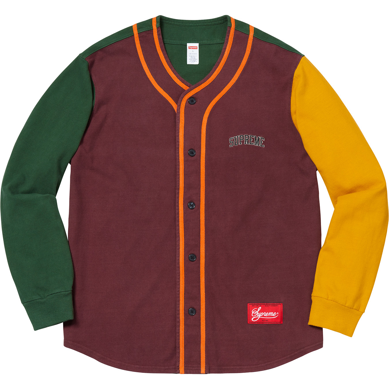 supreme-18aw-fall-winter-color-blocked-baseball-top