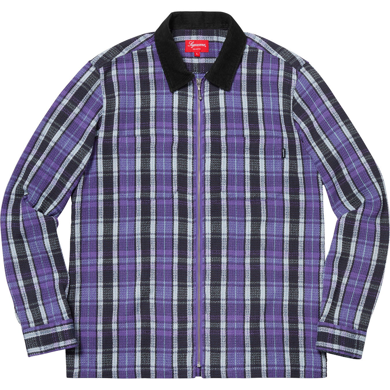 supreme-18aw-fall-winter-plaid-thermal-zip-up-shirt