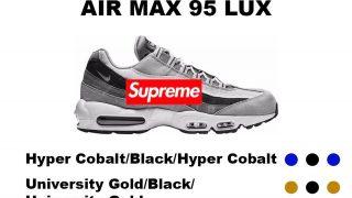 Supreme × NIKE AIRMAX 95 LUX が2019SSに発売予定か?