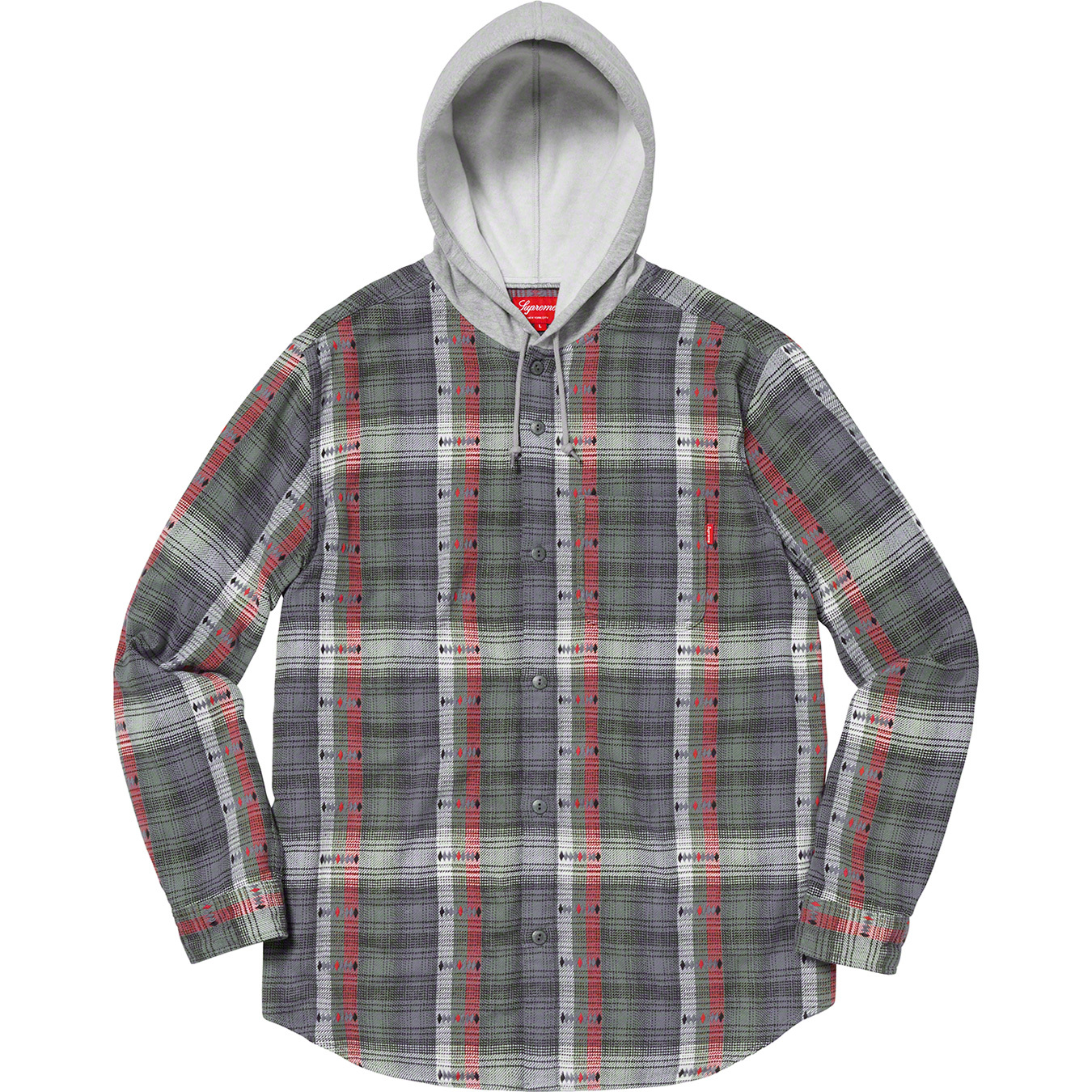 supreme-18aw-fall-winter-hooded-jacquard-flannel-shir
