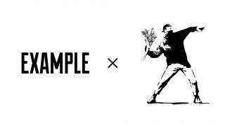 EXAMPLE × BRANDALISED(Banksy)のコラボアイテムが12/22に国内発売予定