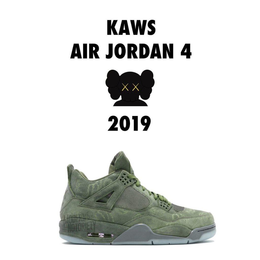 kaws-nike-air-jordan-4-khaki-release-2019