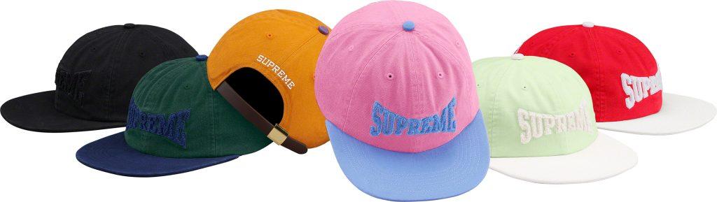 supreme-19ss-spring-summer-chenille-logo-6-panel