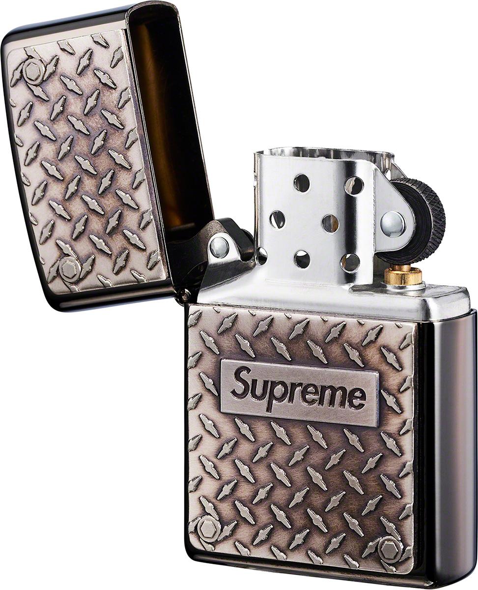 supreme-19ss-spring-summer-diamond-plate-zippo