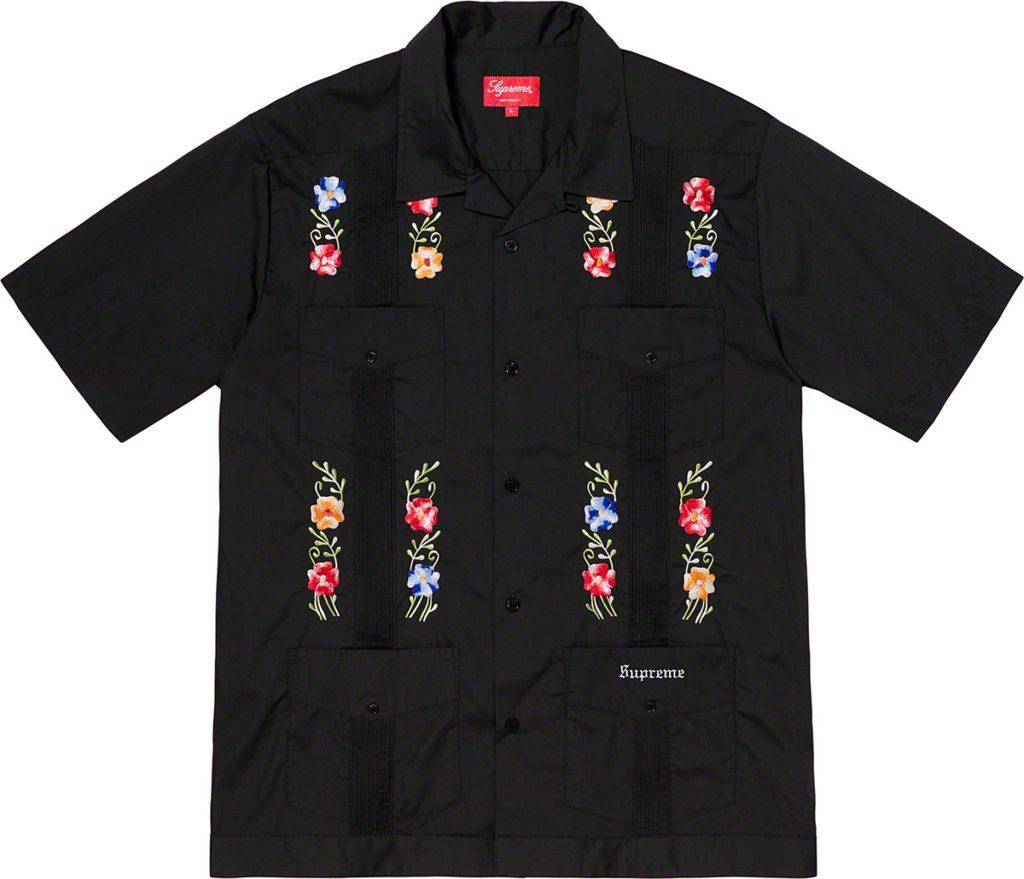 supreme-19ss-spring-summer-flowers-guayabera-s-s-shirt