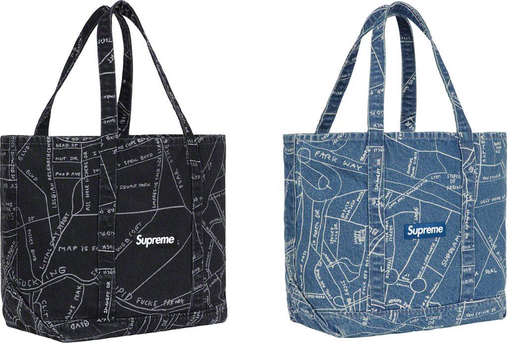 supreme-19ss-spring-summer-gonz-map-denim-tote