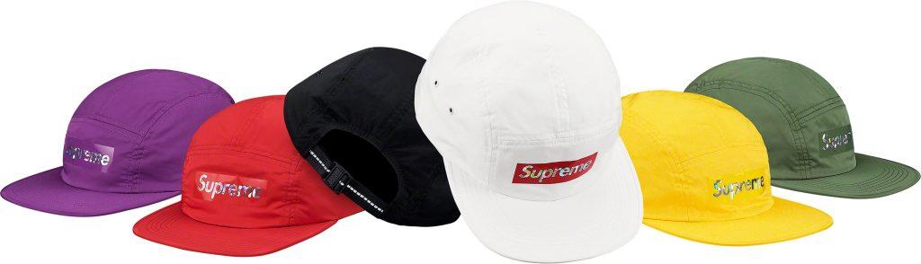 Supreme 19ss コレクションのキャップ一覧ページ