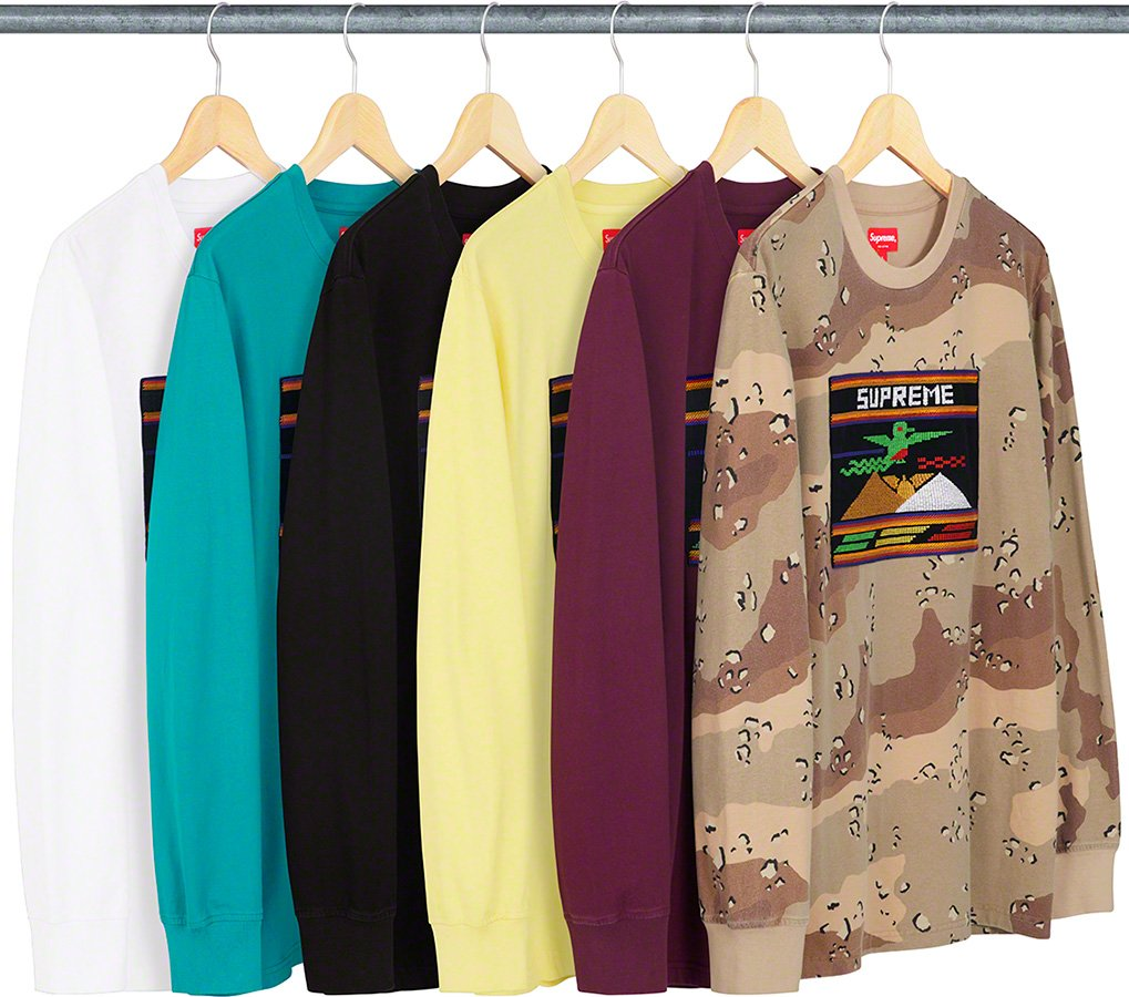 supreme-19ss-spring-summer-needlepoint-patch-l-s-top