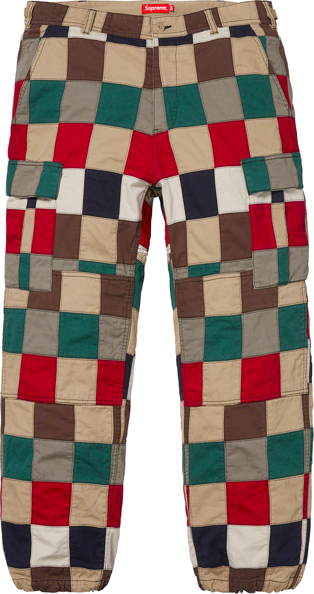 supreme-19ss-spring-summer-patchwork-cargo-pant
