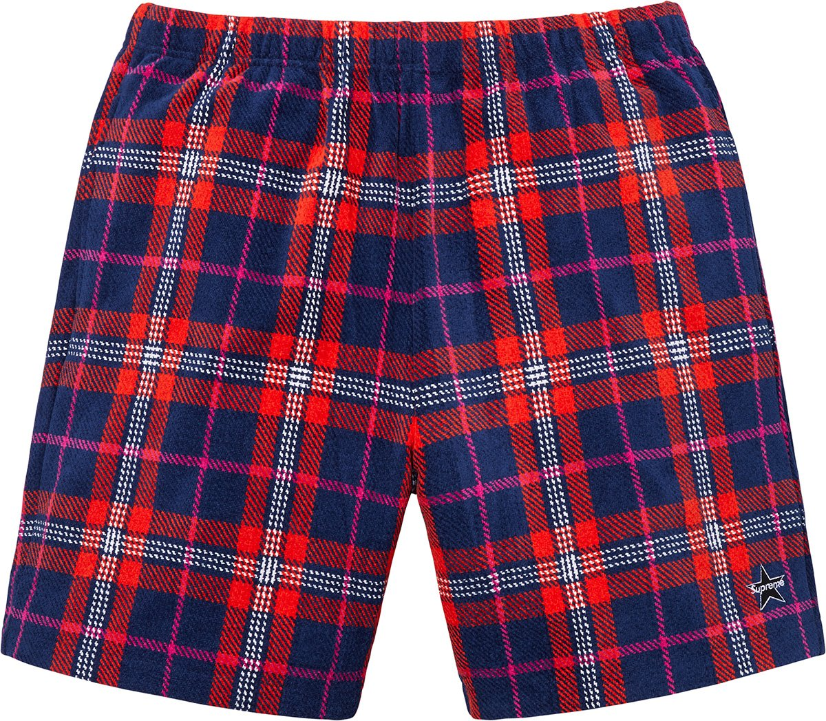 supreme-19ss-spring-summer-plaid-velour-short