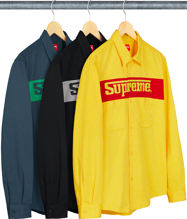 supreme-19ss-spring-summer-racing-logo-work-shirt