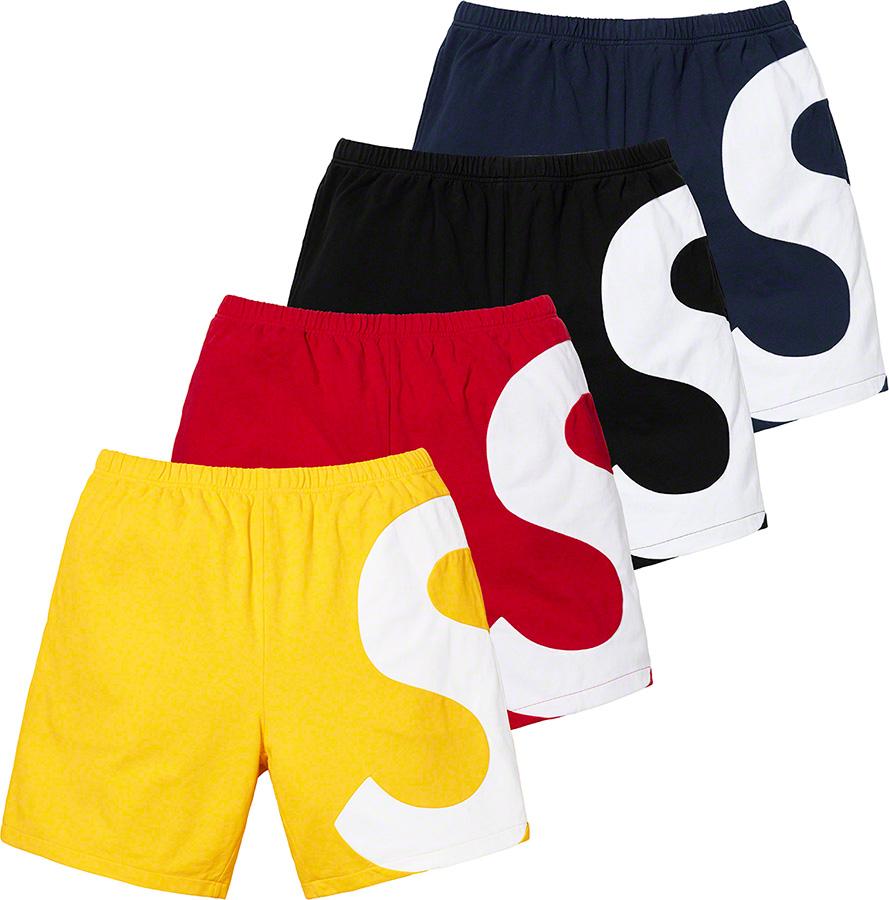 supreme-19ss-spring-summer-s-logo-colorblocked-sweatshort