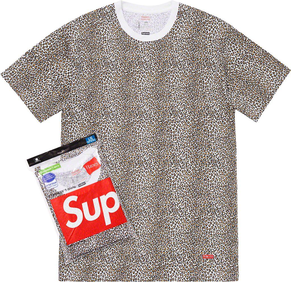 supreme-19ss-spring-summer-supreme-hanes-leopard-tagless-tees-2-pack