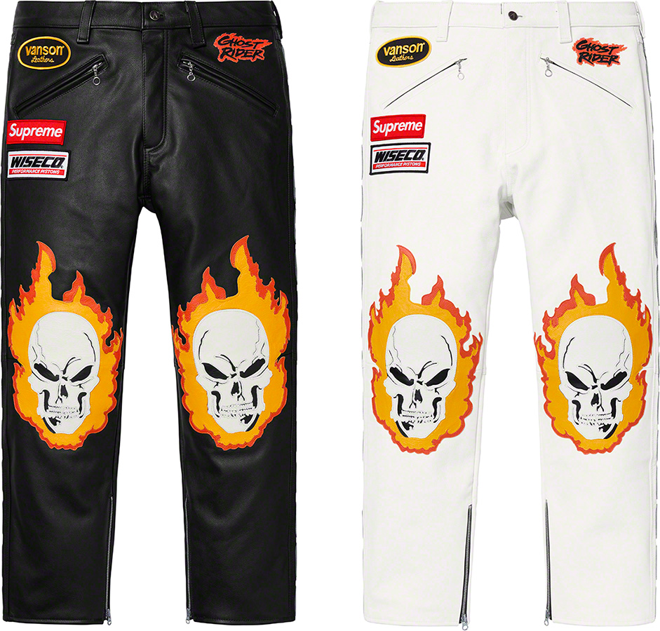 supreme-19ss-spring-summer-supreme-vanson-leathers-ghost-rider-pant