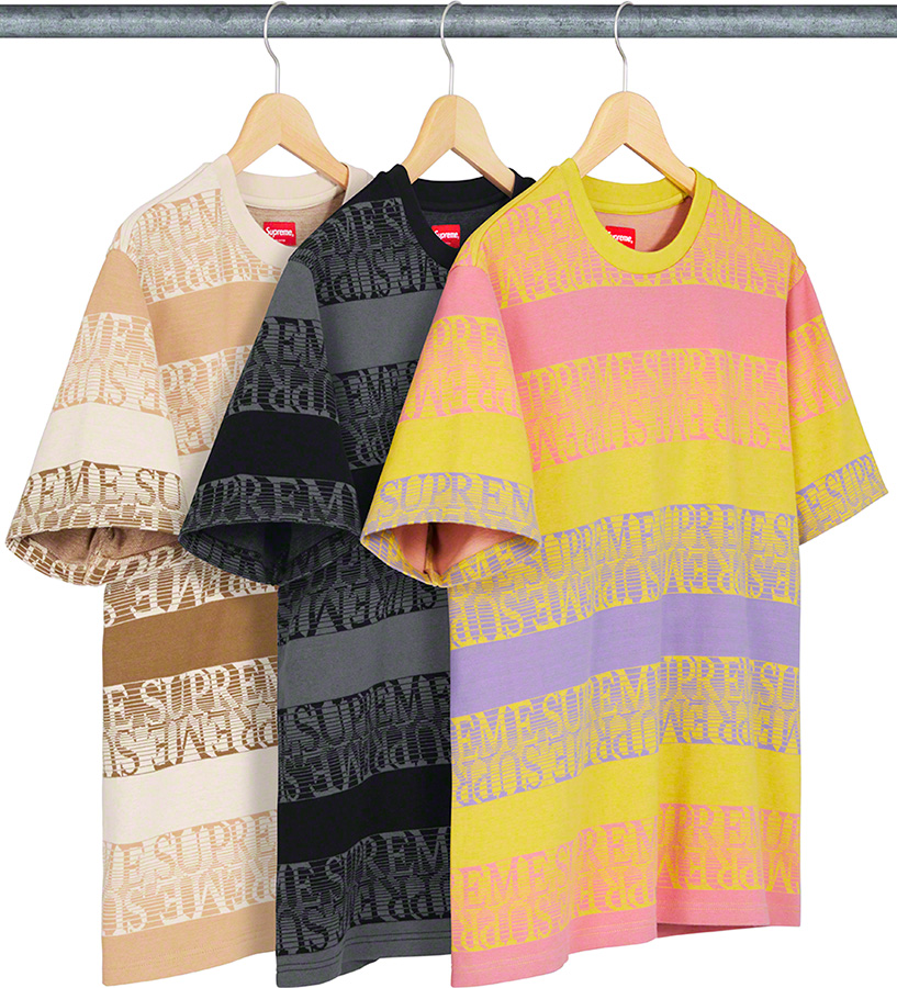 supreme-19ss-spring-summer-text-stripe-jacquard-s-s-top