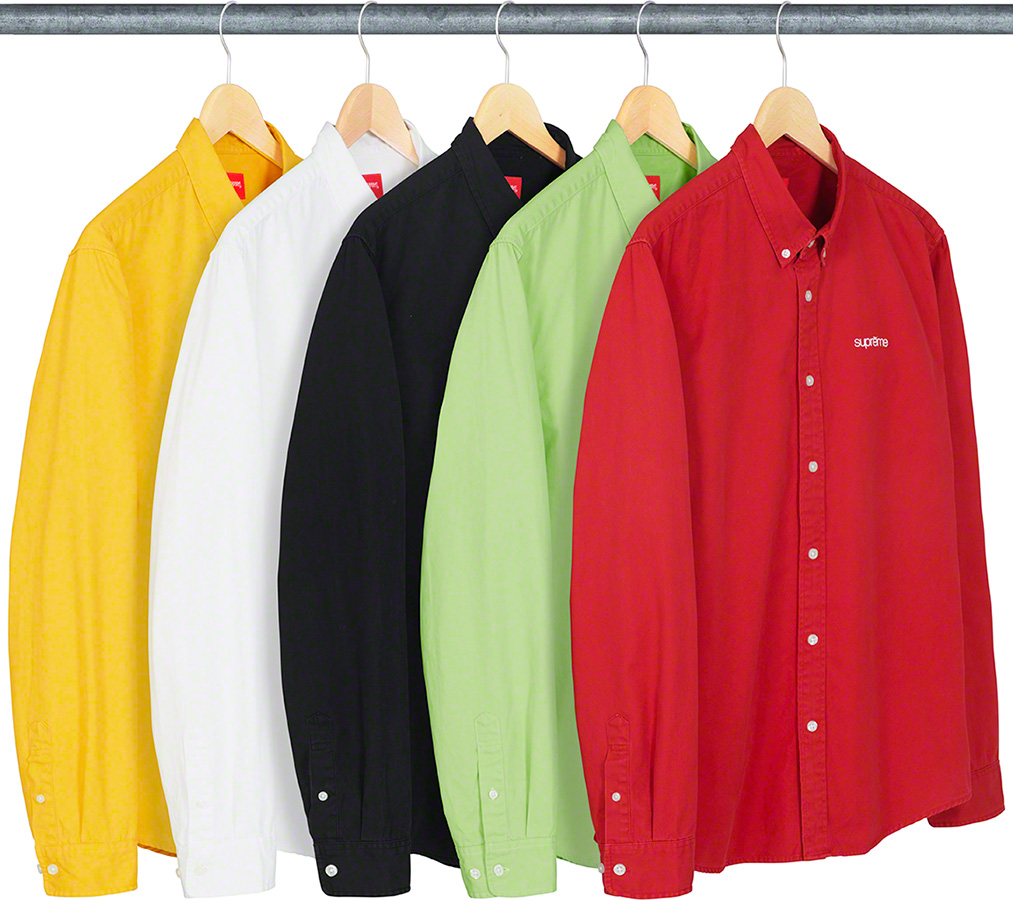 supreme-19ss-spring-summer-washed-twill-shirt