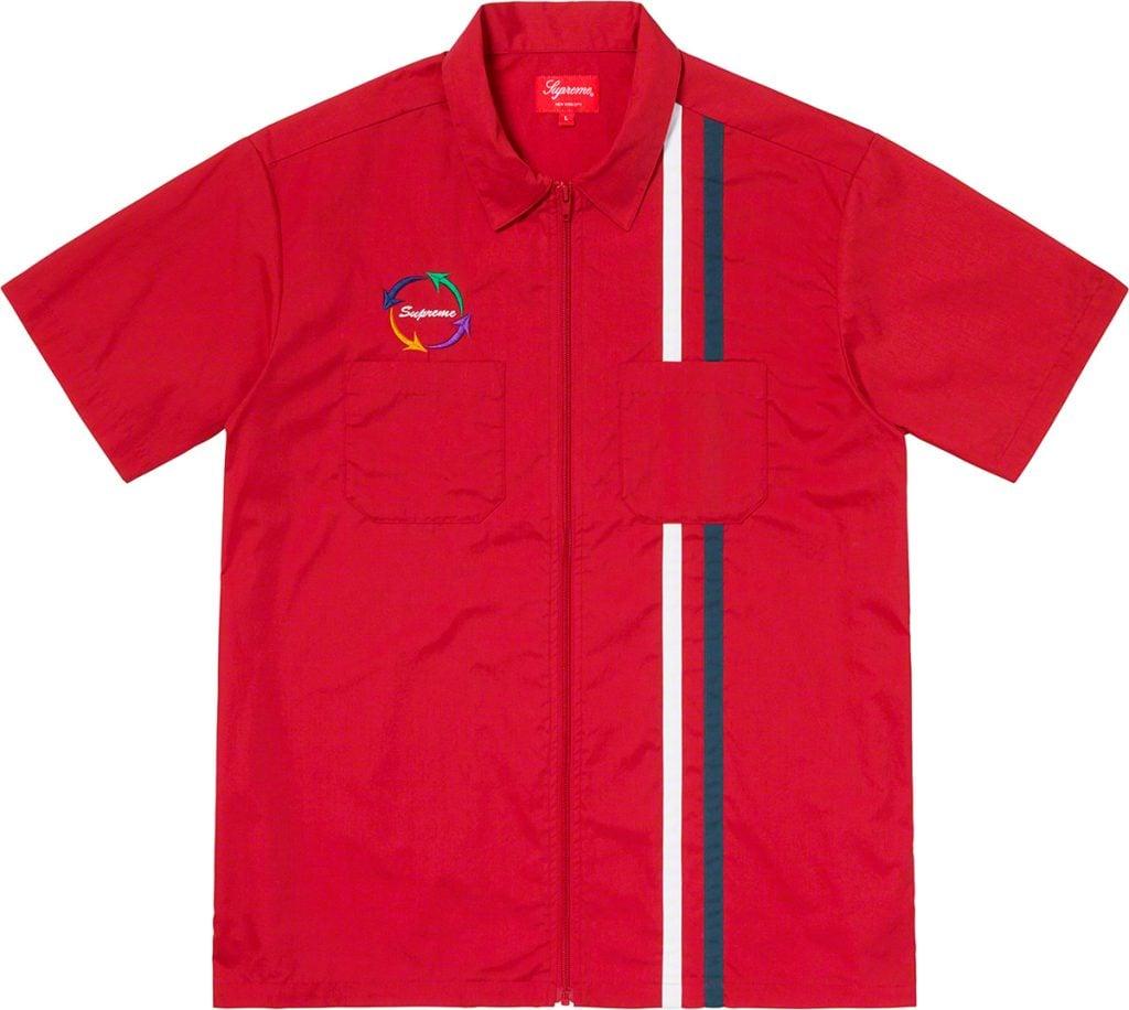 supreme-19ss-spring-summer-zip-up-s-s-work-shirt