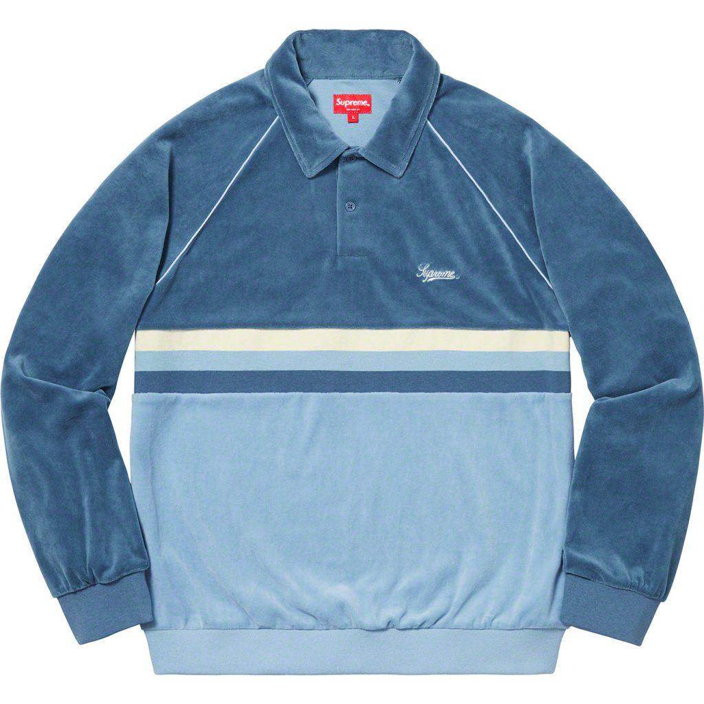 supreme-19ss-spring-summer-stripe-velour-raglan-l-s-polo