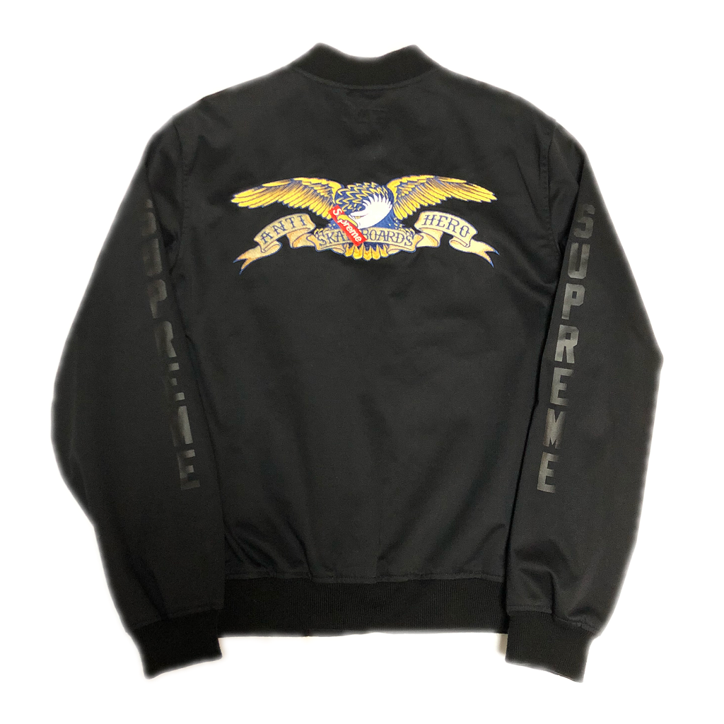 supreme-antihero-bomber-jacket-black-l-16ss