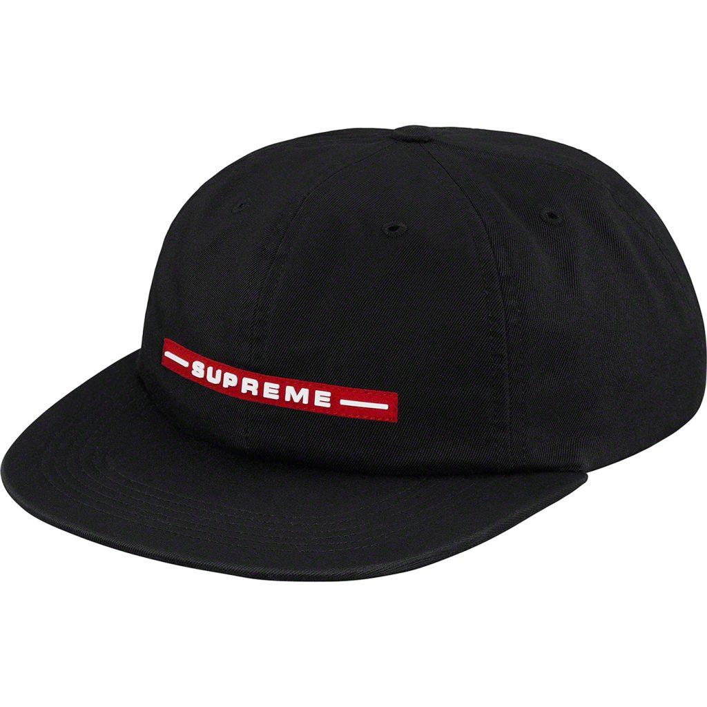 supreme-19ss-spring-summer-raised-logo-6-panel