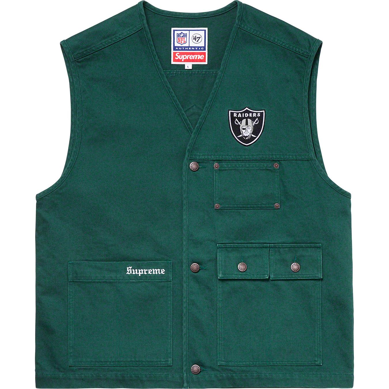 supreme-19ss-spring-summer-supreme-raiders-47-brand-denim-vest