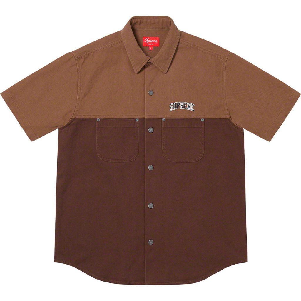 supreme-19ss-spring-summer-2-tone-denim-s-s-shirt