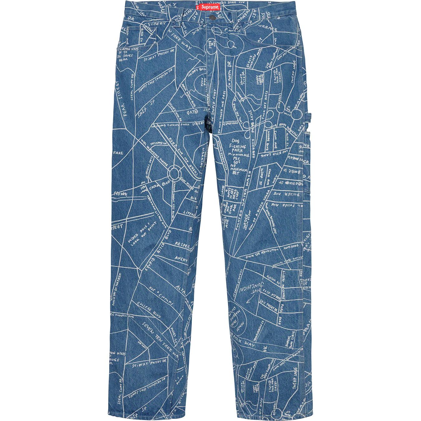 supreme-19ss-spring-summer-gonz-map-denim-painter-pant