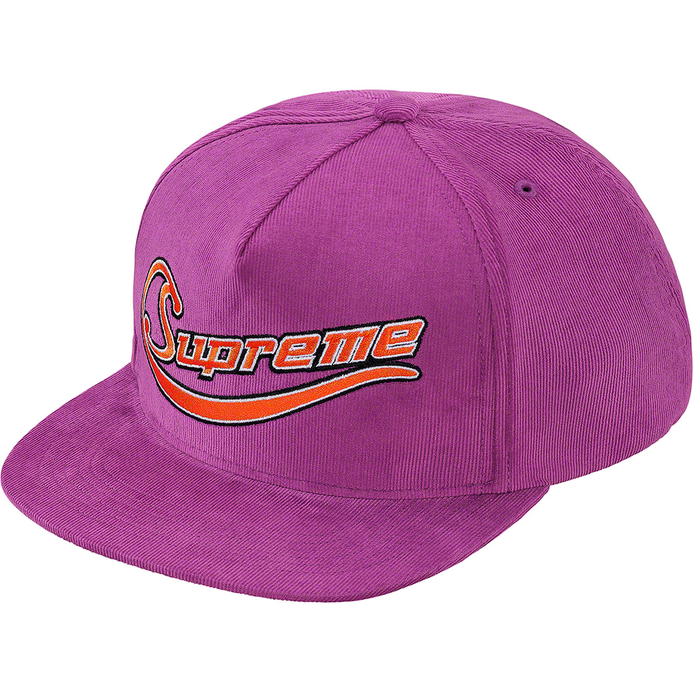 supreme-19ss-spring-summer-metallic-logo-corduroy-5-panel