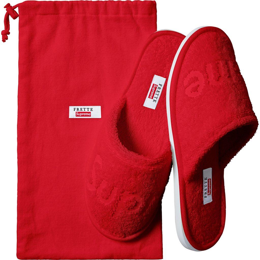 supreme-19ss-spring-summer-supreme-frette-slippers