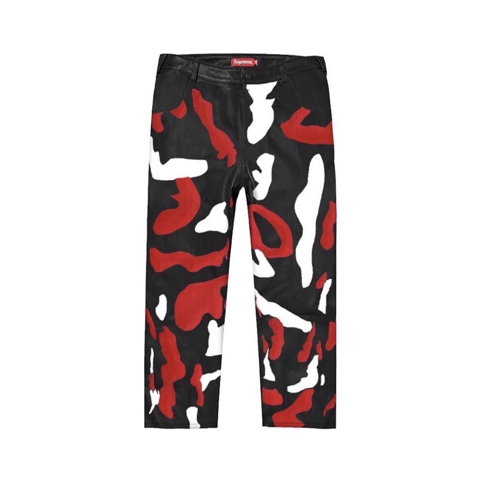 supreme-2019aw-autumn-winter-camo-leather-pant