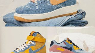 LEVI'S × NIKE BY YOU AIR FORCE 1 LOW & HIGH、AIR MAX 90が8/20に国内発売予定