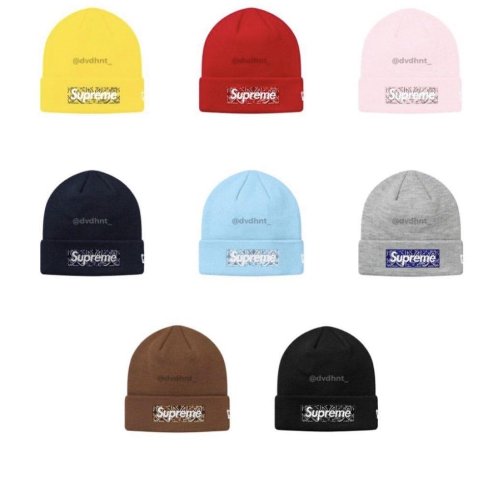 supreme-19aw-19fw-autumn-winter-new-era-bandana-box-logo-beanie