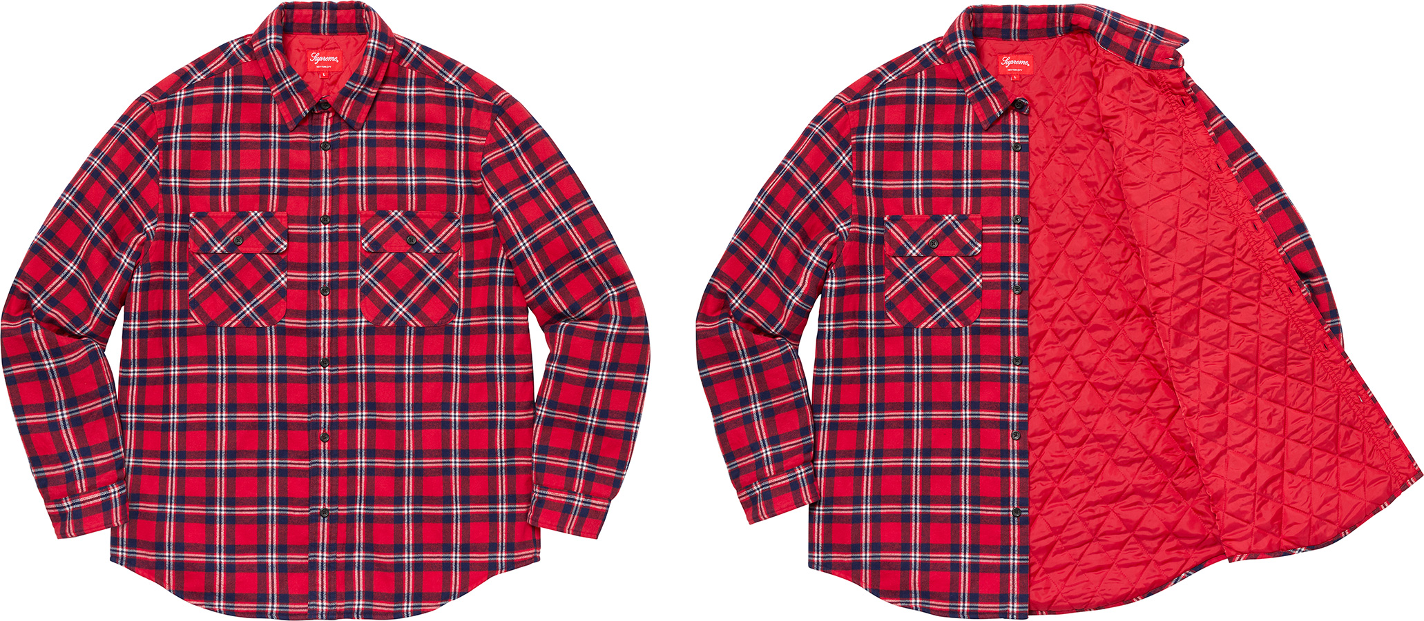 supreme-19aw-19fw-fall-winter-arc-logo-quilted-flannel-shirt