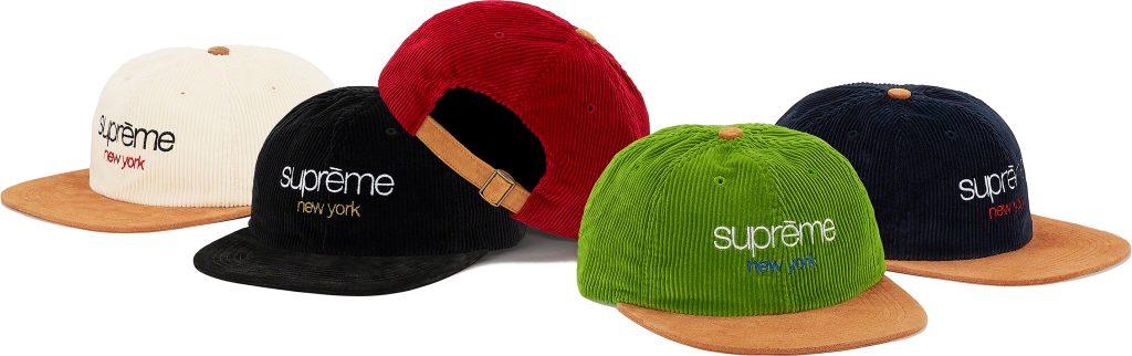 supreme-19aw-19fw-fall-winter-classic-logo-corduroy-6-panel