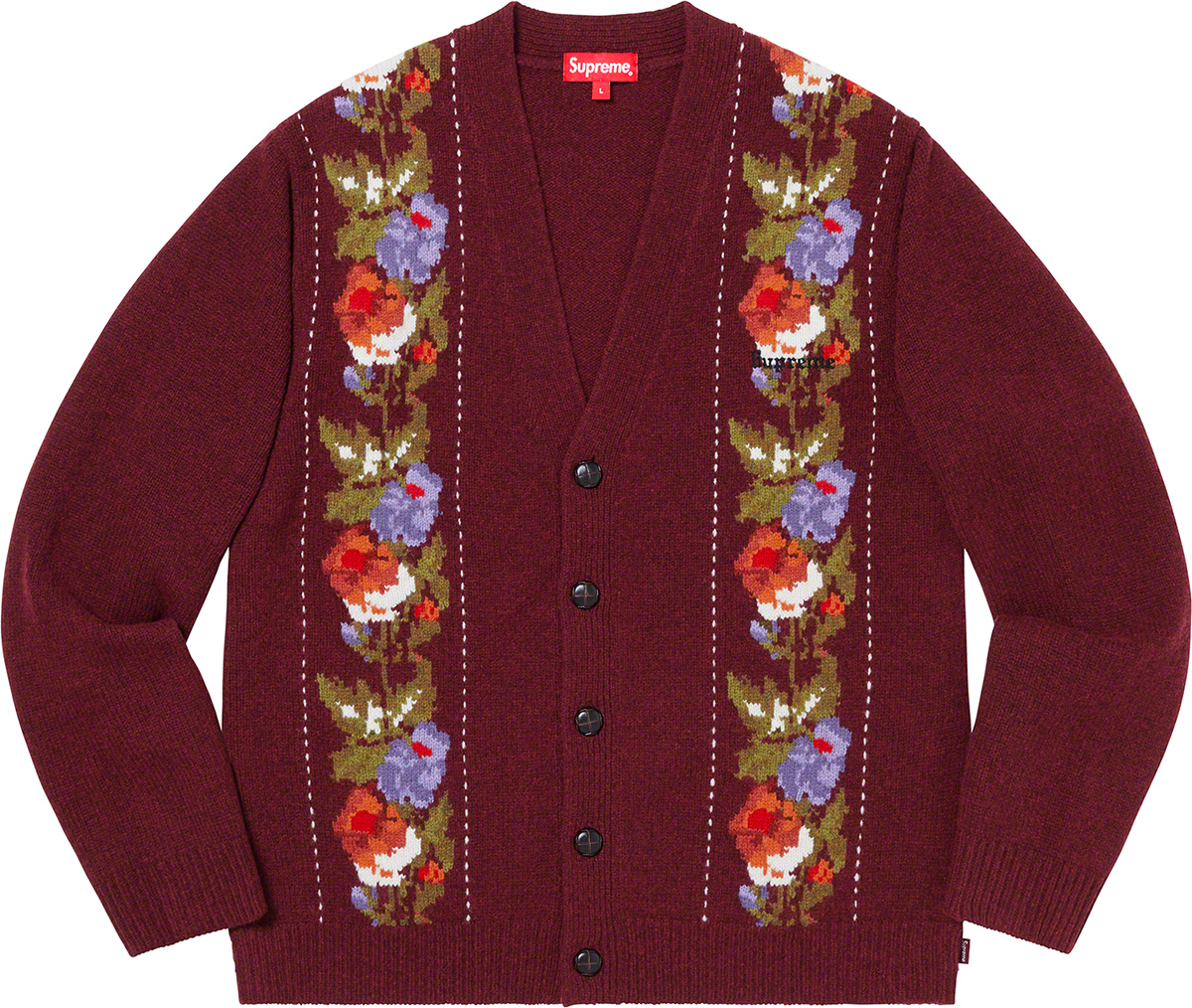 supreme-19aw-19fw-fall-winter-floral-stripe-cardigan