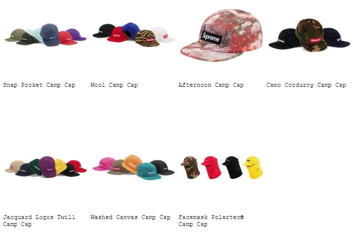 supreme-19aw-19fw-fall-winter-preview-cap