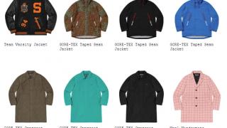 Supreme 19AW コレクションのジャケット一覧ページ