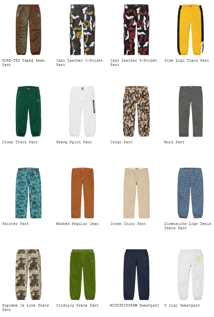 supreme-19aw-19fw-fall-winter-preview-pant