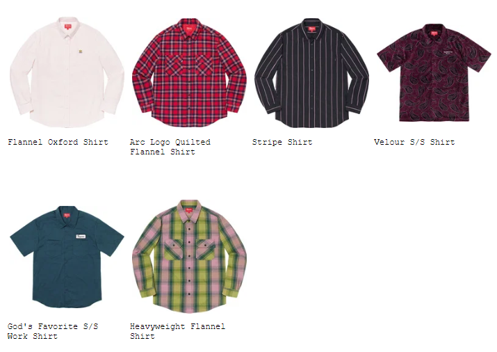 supreme-19aw-19fw-fall-winter-preview-shirt