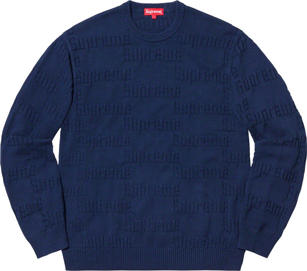 supreme-19aw-19fw-fall-winter-raised-logo-sweater